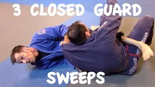 3 CLOSED GUARD SWEEPS: Scissor, Xande and Flower Sweep with Professor Matthias Meister