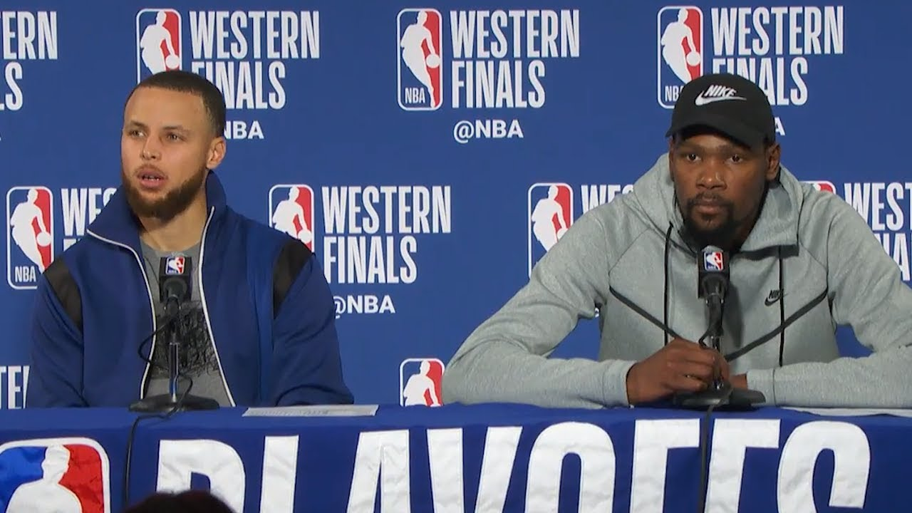 steph-curry-kevin-durant-postgame-interview-game-4-rockets-vs-warriors-2018-nba-west-finals