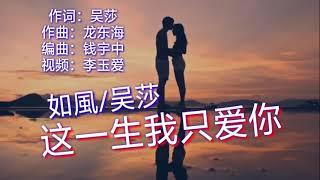 《这一生我只爱你》<br /> 演唱:如風/吴莎