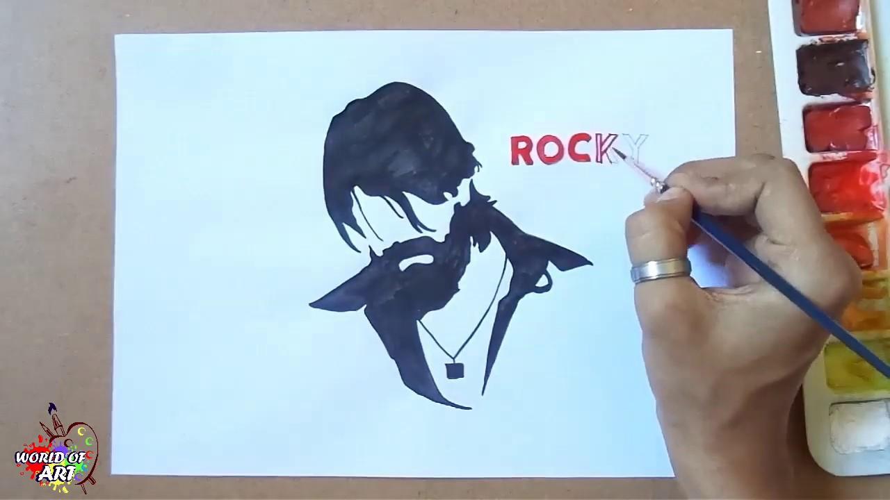 Kgf Drawing Yash Fan Art Drawing Yash Kgf Rockey Youtube