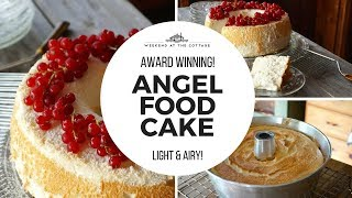 The best ANGEL FOOD CAKE recipe!