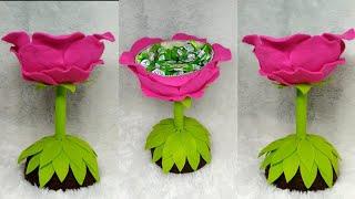 110) Ide kreatif - mengubah bola menjadi tempat permen candy merak candy bunga candy an ...
