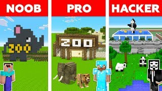 Minecraft Battle: NOOB vs PRO vs HACKER: ZOO TYCOON in Minecraft / Animation