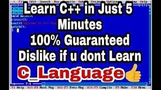 Learn C Language In Just 5 Mins| Guaranteed|By Hacking Shoukeens