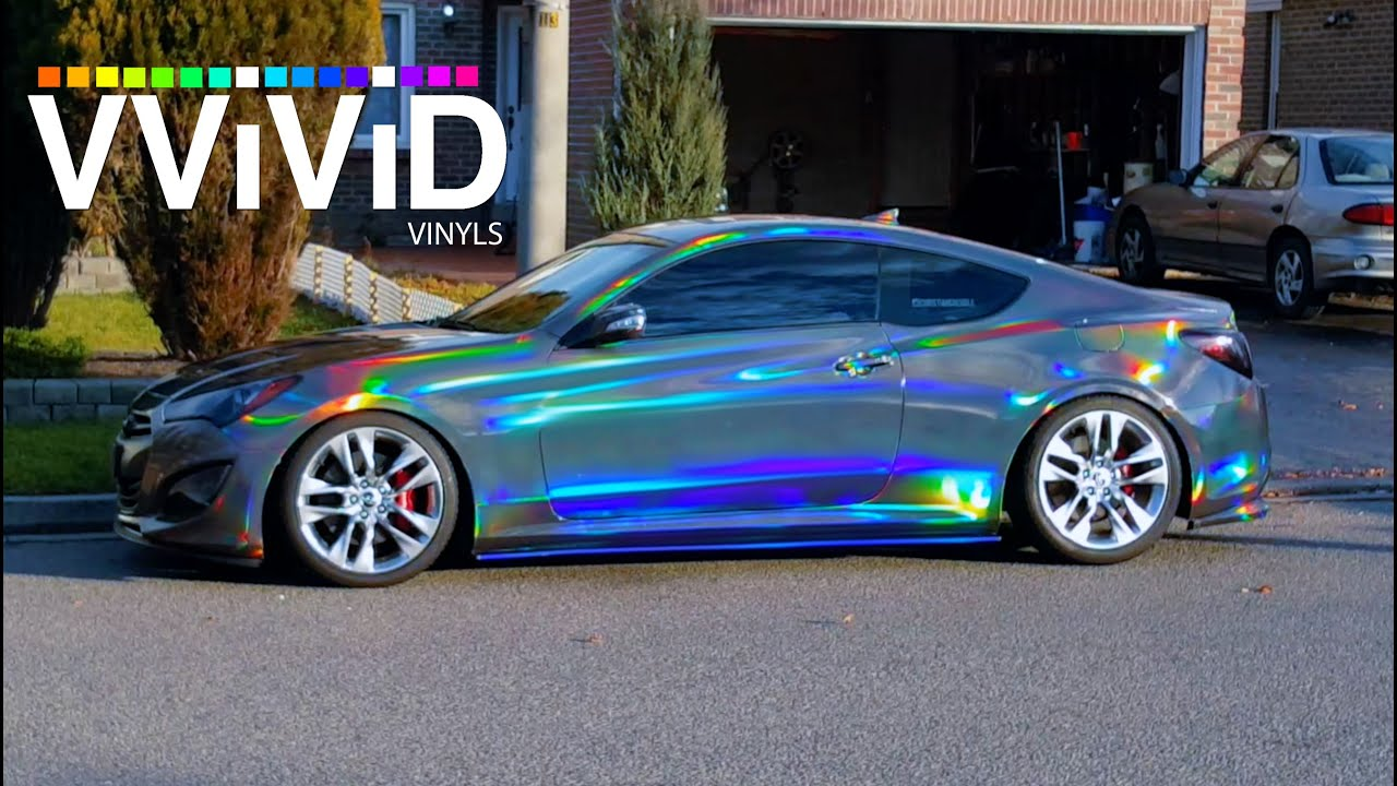 Crazy Vvivid Holographic Black Chrome In Sunlight Raw Video