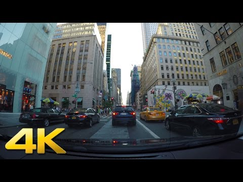 New York - Driving Down 5th Ave in Manhattan