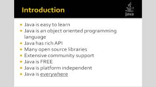Introduction to the Java Programming Language