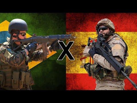 Brasil x Espanha - Comparação Militar