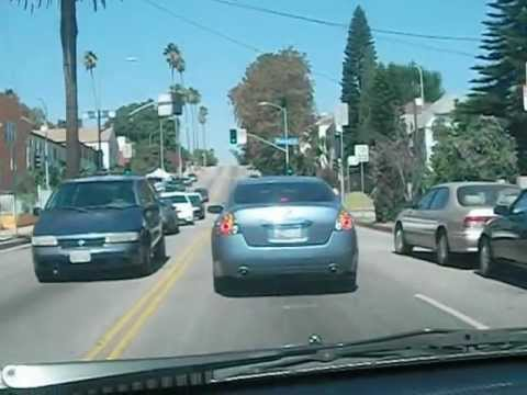Driving north on Normandie Ave in L.A.