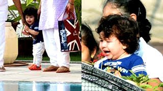 Kareena Kapoor's Son Taimur Playing Next To Swimming Pool | LATEST PICTURES