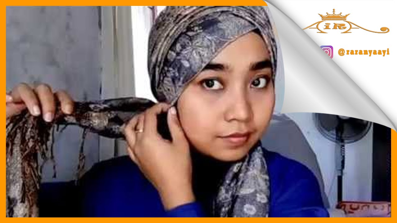 Tutorial Hijab Pashmina Ke Pesta Simple Turban YouTube