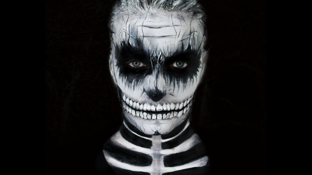 tuto maquillage halloween skull makeup youtube. Black Bedroom Furniture Sets. Home Design Ideas