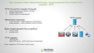 21.Видео уроки Cisco Packet Tracer. Курс молодого бойца. TFTP