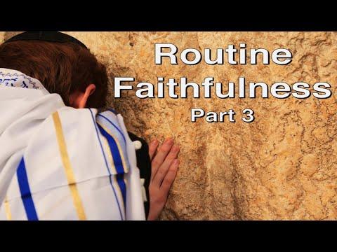 August 1, 2020 - Routine Faithfulness Part 3 - Larry Feldman