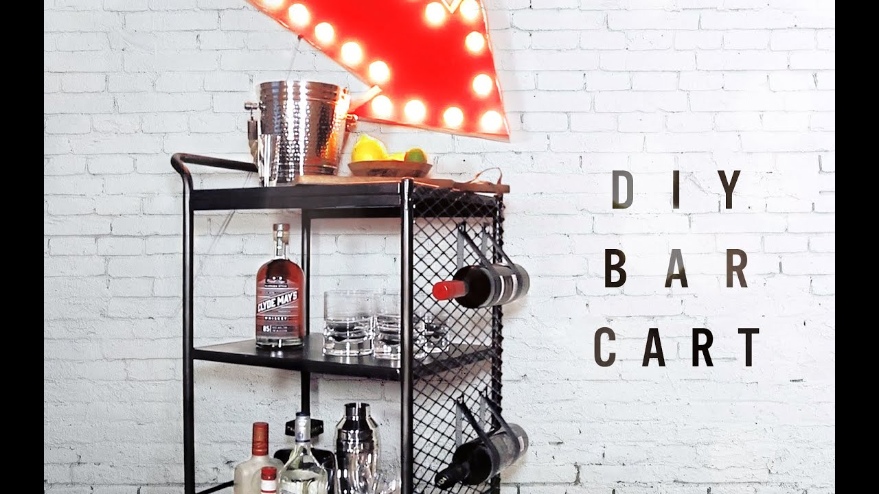 Diy Bar Cart Kitchen Cart Makeover Youtube