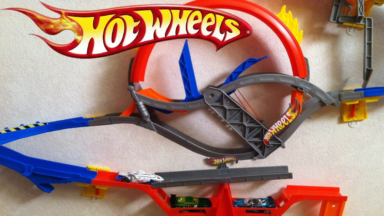 Hot Wheels Wall Tracks Epic Review Complete w/ 4 Playset Mattel ...