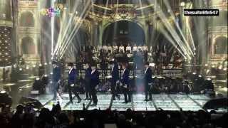 Infinite - The Chaser (Remix) [SBS Gayo Daejun] (12.12.29) {Hangul, Romanization, Eng Sub}