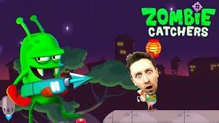 🍵 Обновили экипировку в ZOMBIE CATCHERS прохождение Ловцы зомби Игра как мультик для детей Жестянка