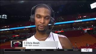 October 22, 2015 - ESPN - PS Game 07 Heat VsWizards - Win (04-03)(Chris Bosh Postgame Interview)