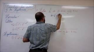 explicacion sencilla para encontrar catetos y la hipotenusa