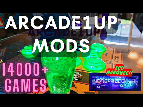 Arcade1up MODS Including Dynamic LCD Marquee 6000+ Games! ArcadeModUp Raspberry Pi 4 from NeoSpaceChase