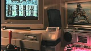"An amiga 2000 plays the theme to ""Fletch"""