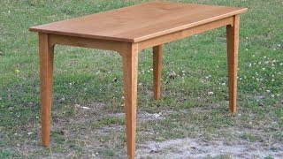 Cherry Table (part 3/3) -- Sanding and Finishing
