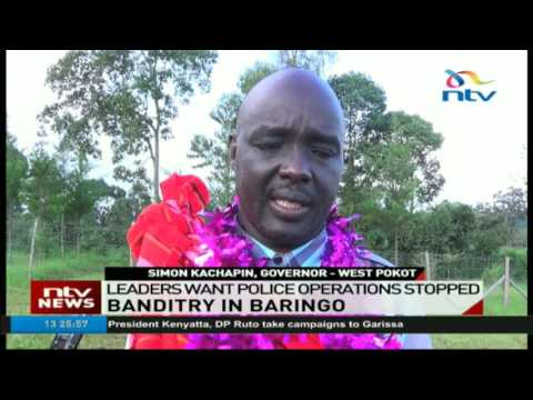 Baringo leaders want police operations stopped