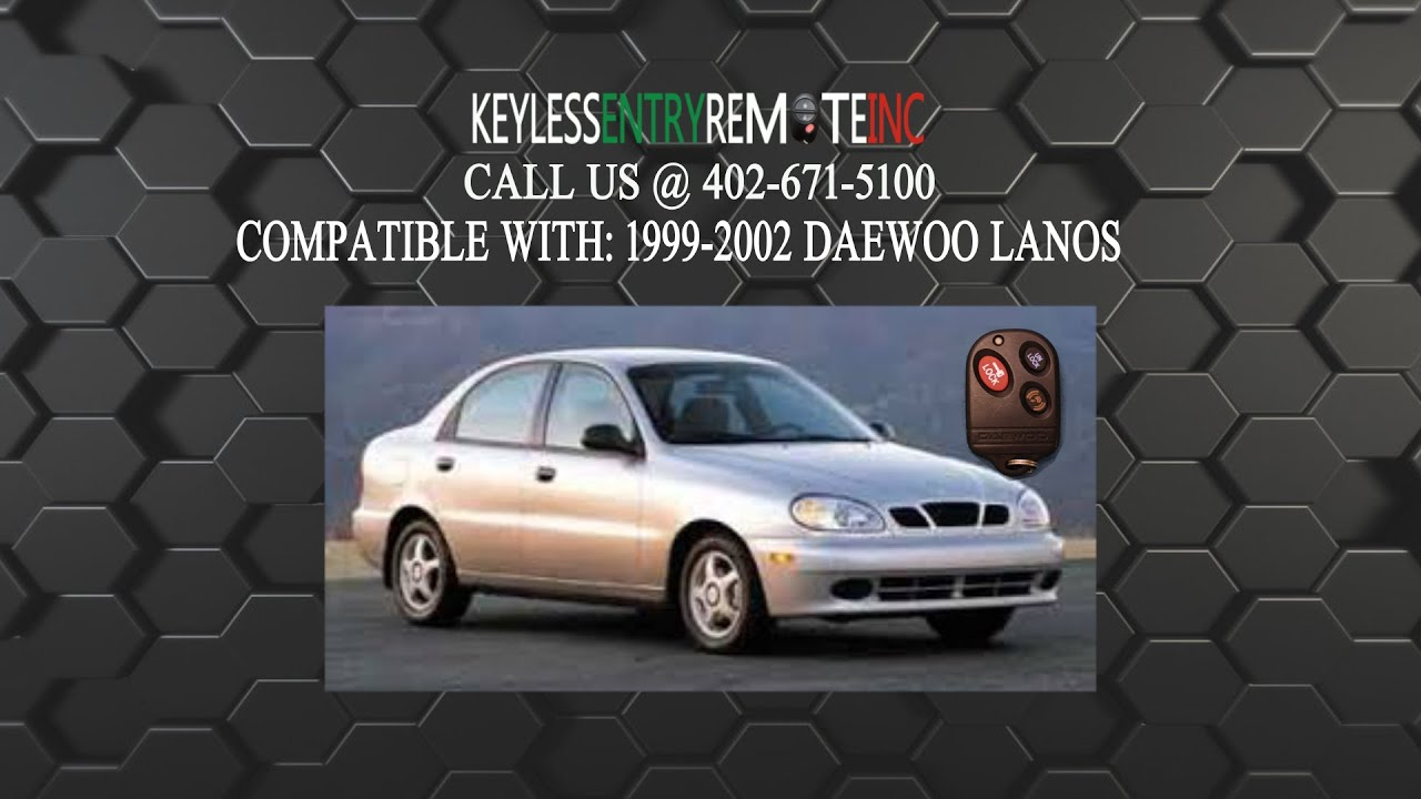 Replace Daewoo Lanos Key Fob Battery 1999 2000 2001 2002 ...