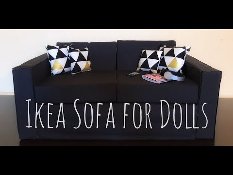 DIY IKEA Sofa For Dolls (BJD, American Girl, 18 Inch Doll, 1/3 Scale)