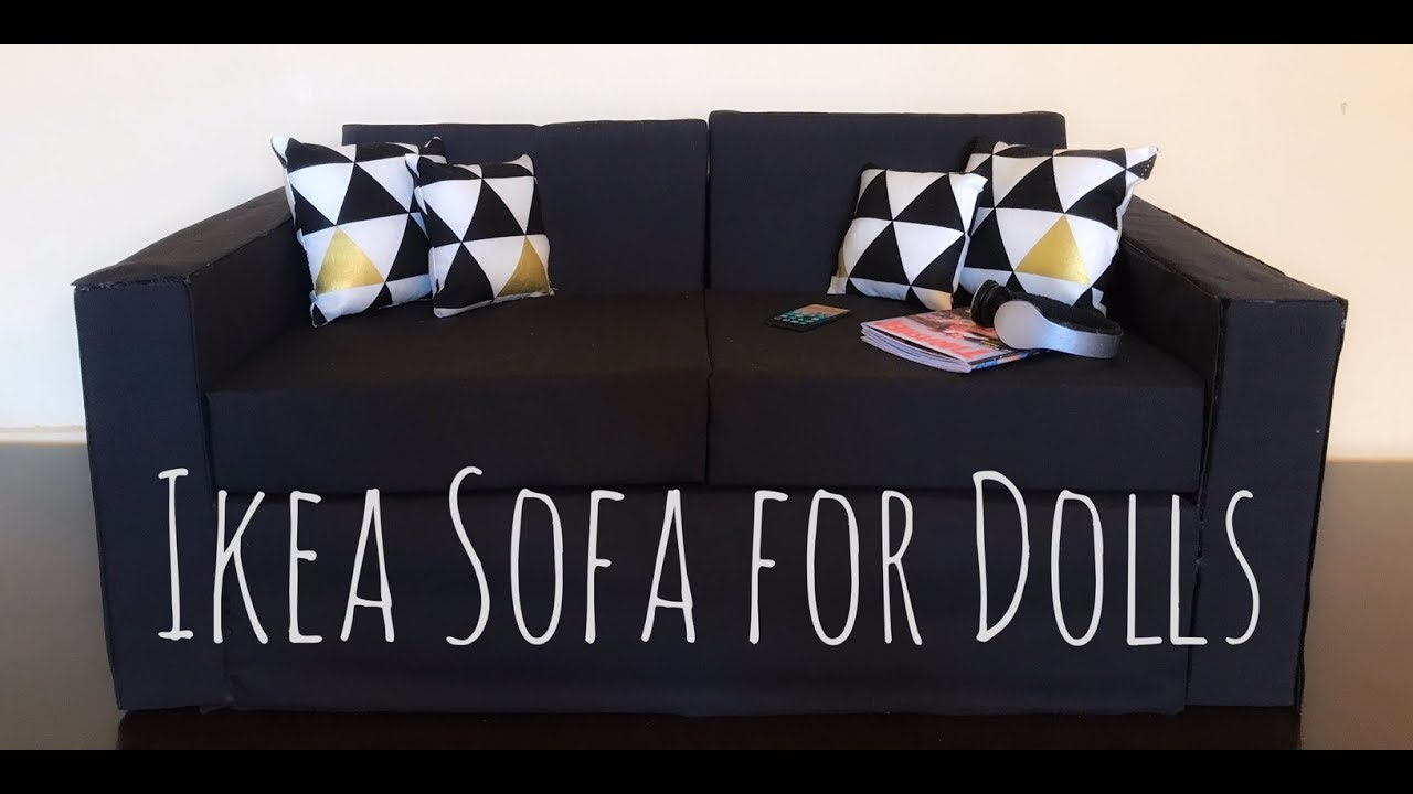 18 Doll Sofa Diy Reversible Sectional Sofas With Chaise Ikea For Dolls Bjd American Girl Inch 1 3 Scale
