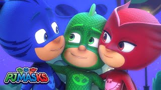 PJ Masks Song 🎵SAVE THE DAY 🎵Sing along with the PJ Masks! | HD | Superhero Cartoons for Kids
