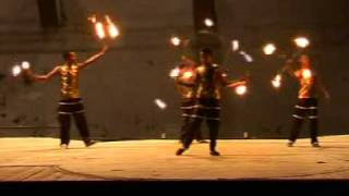 Fire Holla Hoop + Chak-off Fire + Gora Stick Act by African Roots Circus
