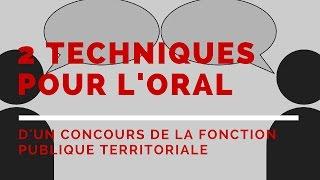 Les 2 techniques SECURISANTES pour présenter son exposé oral d'un concours