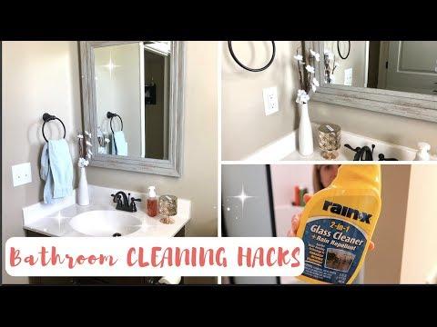 HOW TO ALWAYS HAVE A CLEAN BATHROOM | 7 GENIUS BATHROOM CLEANING HACKS | KEEP YOUR BATHROOM CLEAN