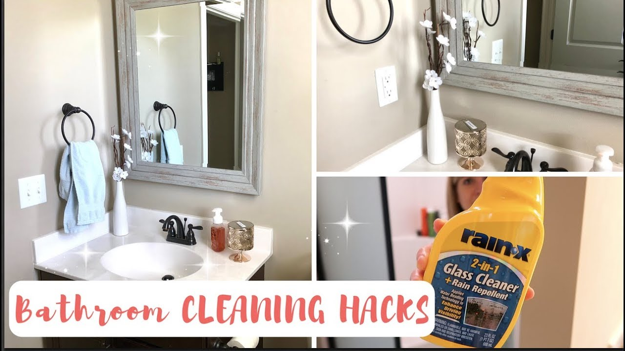 HOW TO ALWAYS HAVE A CLEAN BATHROOM GENIUS BATHROOM CLEANING - How to keep your bathroom clean