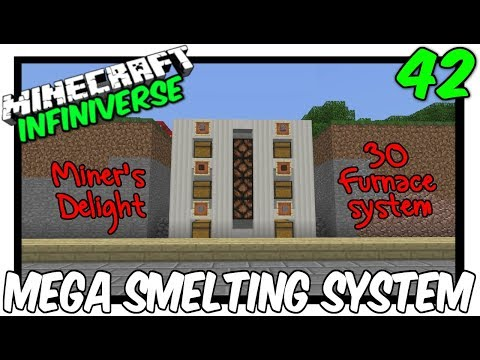 """30 Furnace Super Smelter"" [42] Minecraft Bedrock Infiniverse"