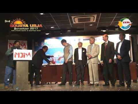 3rd SOURYA URJA Puraskaar 2017 – India's Premier Awards for Solar Power Sector