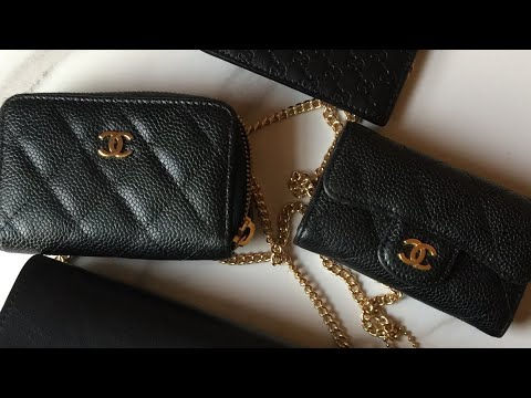 d1f62b38d7e746 COMPARISON OF WHAT FITS BTWN THE CHANEL ZIP AND FLAP CARD HOLDERS ...
