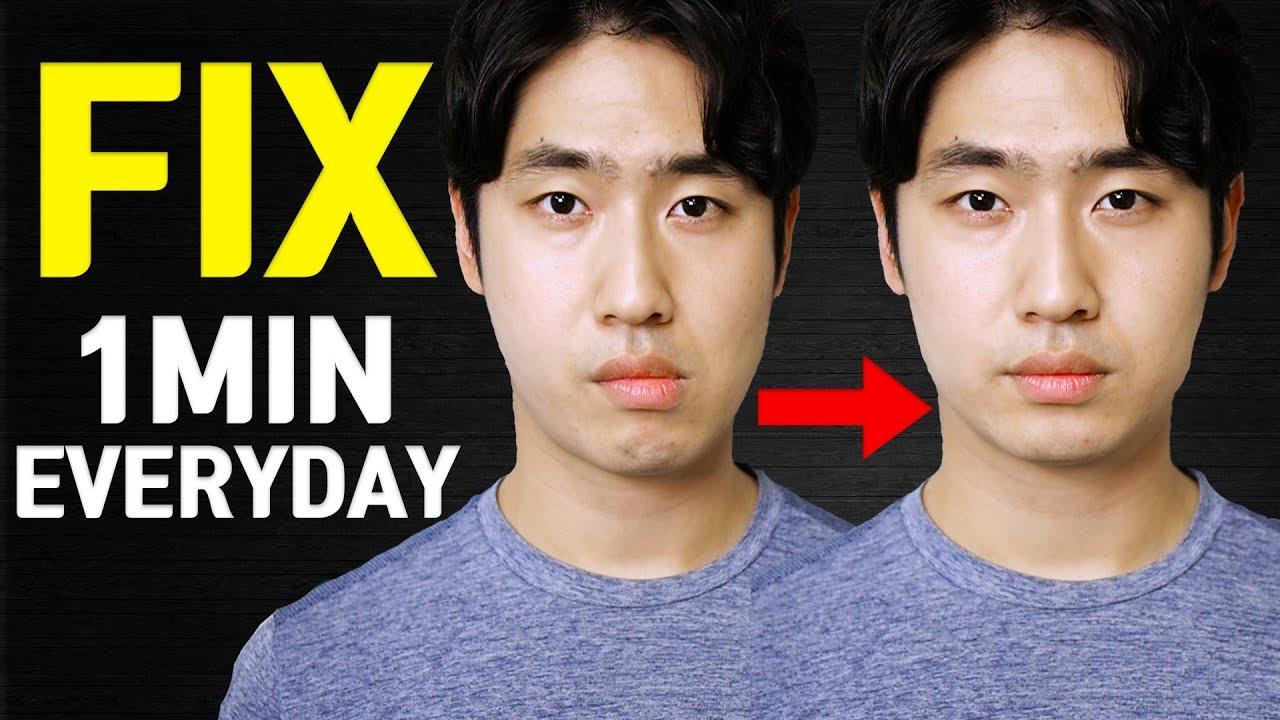 how diet can fix asymmetrical face