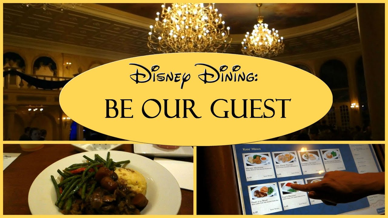 Disney Dining Be Our Guest Restaurant Youtube