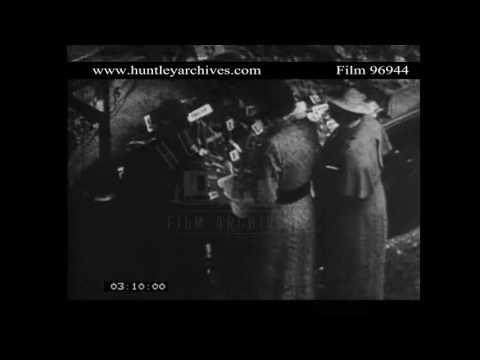 Child wearing a Leg Caliper, 1930's.  Archive film 96944