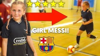 I FOUND 8 YEAR OLD KID GIRL MESSI IN A FOOTBALL COMPETITION.. AMAZING SKILLS
