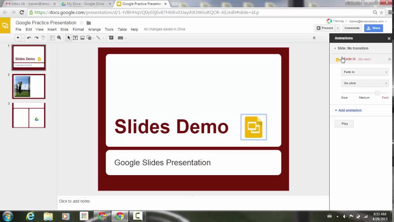 animation improvements in google slides youtube