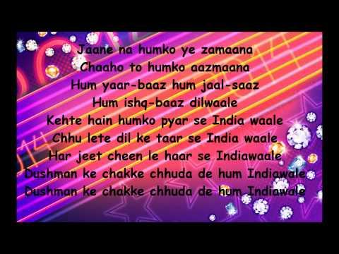 INDIAWAALE - Happy New Year Song Lyrics (HD)