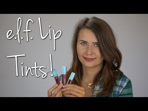 ELF Radiant Gel Lip Tints Swatches & Try On (Cruelty Free & Vegan!) - Logical Harmony
