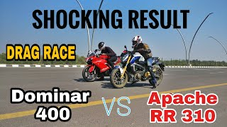 Dominar 400 vs Apache RR 310 (DRAG RACE) || Highway Top End || India's Largest Expressway