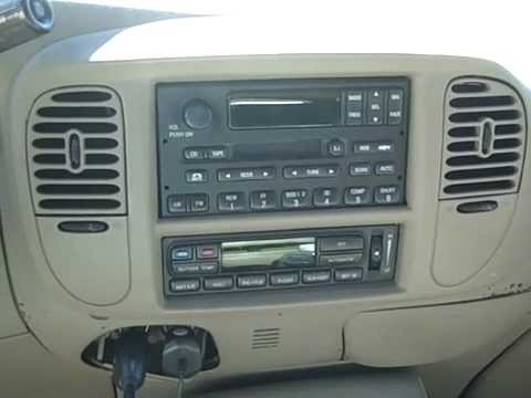 hqdefault ford expedition remove radio & poor reception repair youtube 99 expedition radio wiring diagram at eliteediting.co