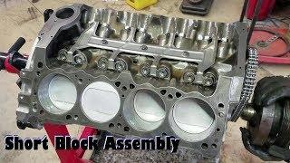 Project Nopar Ep 8 Junkyard Magnum 360 Short Block Assembly
