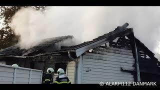 Brand i villa i Helsinge.